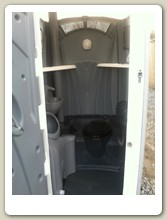 All In One Deluxe Portable Toilet Inside